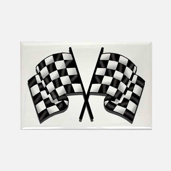 Chequered Flag Rectangle Magnet