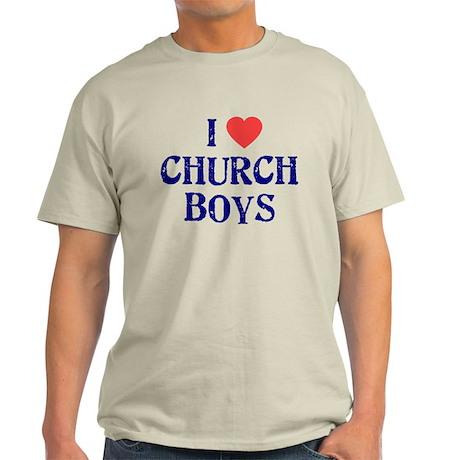 I love church boys Light T-Shirt