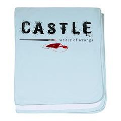 Castle writer of wrongs art p baby blanket
