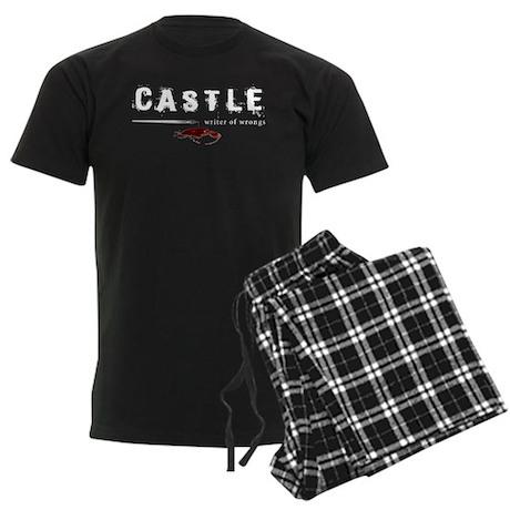 Castle writer of wrongs art p Men's Dark Pajamas