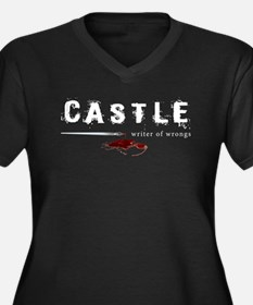 Castle writer of wrongs art p Women's Plus Size V-