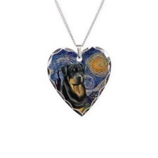 Starry / Rottweiler 1 Necklace
