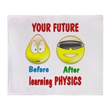 Physics Future Throw Blanket