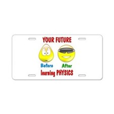 Physics Future Aluminum License Plate