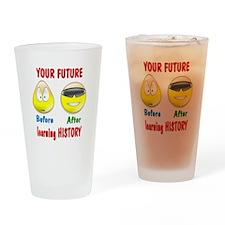 History Future Pint Glass