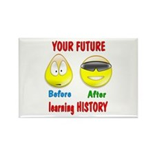 History Future Rectangle Magnet