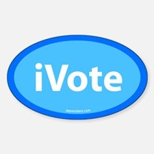 iVote Blue Oval Decal