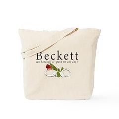 Beckett can handcuff n spank Tote Bag