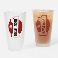 #1 Travel Agent Pint Glass