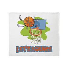 Let's Bounce Basketball Throw Blanket