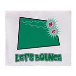 Let's Bounce Dice (Die) Throw Blanket