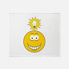 Bright Idea Smart Smiley Face Throw Blanket