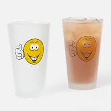 Thumbs Up Smiley Face Pint Glass