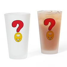 Smiley Face Question Mark Des Pint Glass