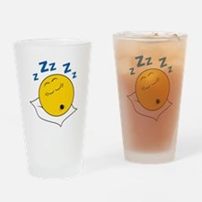 Sleeping/Snoring Smiley Face Pint Glass