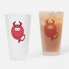 Red Devil Smiley Face Pint Glass