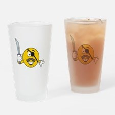 Pirate Smiley Face Pint Glass
