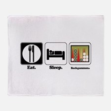 Eat. Sleep. Backgammon. Throw Blanket