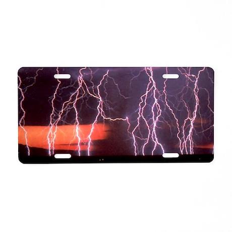 Lightning 1 Aluminum License Plate