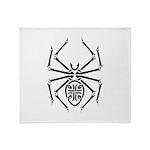 Tribal Spider Design Throw Blanket
