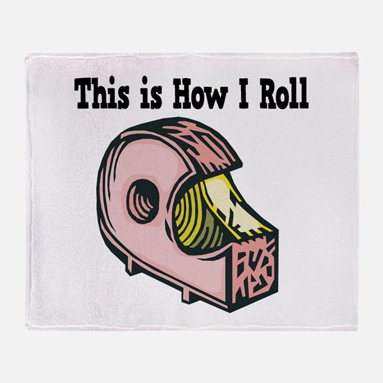 How I Roll (Clear Tape) Throw Blanket