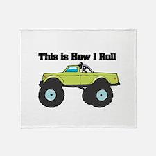 How I Roll (Monster Truck) Throw Blanket