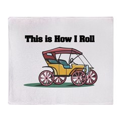 How I Roll (Old-Fashioned Car Throw Blanket