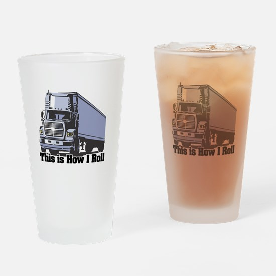 How I Roll (Tractor Trailer) Pint Glass