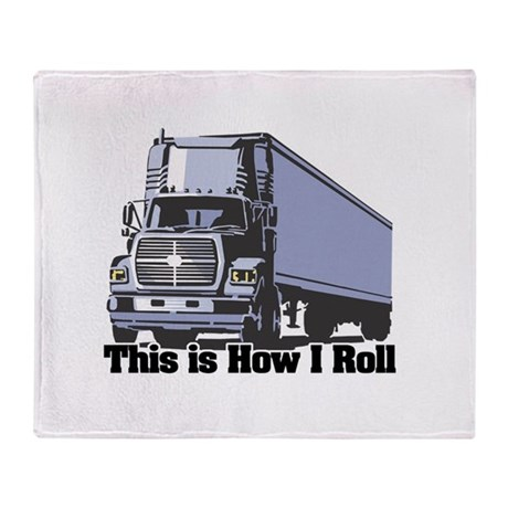 How I Roll (Tractor Trailer) Throw Blanket