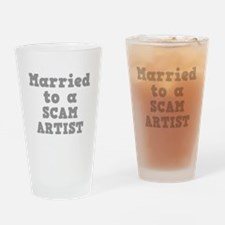 Married to a Scam Artist Pint Glass