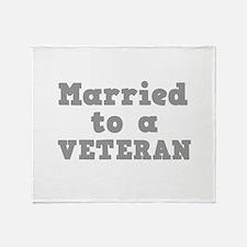 Married to a Veteran Throw Blanket