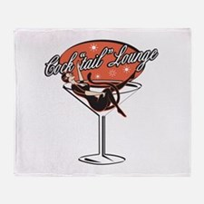 Retro Cocktail Lounge Pin Up Throw Blanket
