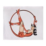 She-Devil Pin-Up Girl Throw Blanket