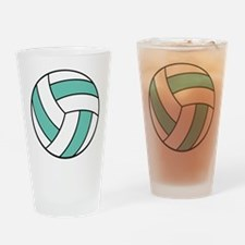 Funny Volleyball Belly Pint Glass