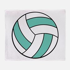 Funny Volleyball Belly Throw Blanket