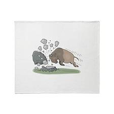 Charging Buffalo Throw Blanket