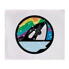 Orca Killer Whale Circle Desi Throw Blanket