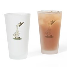 Silly White Goose Pint Glass