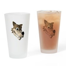 Funny Wolf Face Pint Glass