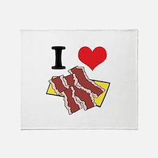 I Heart (Love) Bacon Throw Blanket