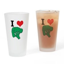 I Love (Heart) Broccoli Pint Glass