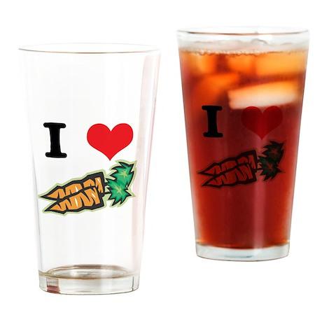 I Heart (Love) Carrots Pint Glass