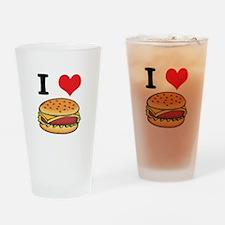 I Heart (Love) Cheeseburgers Pint Glass