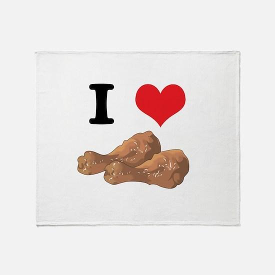 I Heart (Love) Chicken (Drums Throw Blanket