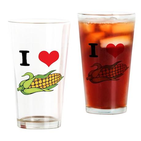 I Heart (Love) Corn (On the C Pint Glass
