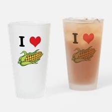 I Heart (Love) Corn (On the C Pint Glass