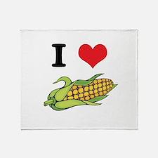 I Heart (Love) Corn (On the C Throw Blanket