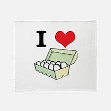 I Heart (Love) Eggs Throw Blanket