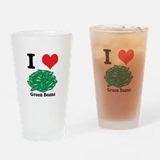 I Heart (Love) Green Beans Pint Glass