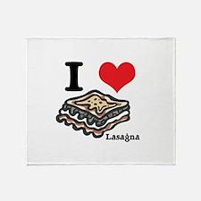 I Heart (Love) Lasagna Throw Blanket